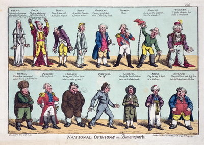 National Opinions on Bonaparte, 1808 Poster Art Print by George Moutard Woodward