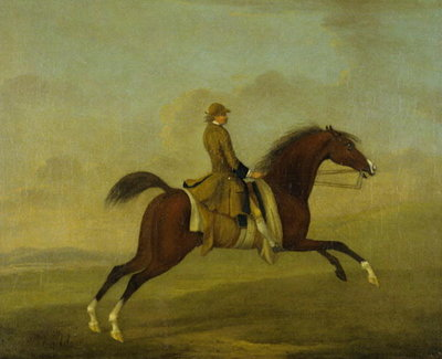 'Flying Childers' with Jockey Up Poster Art Print by James Seymour