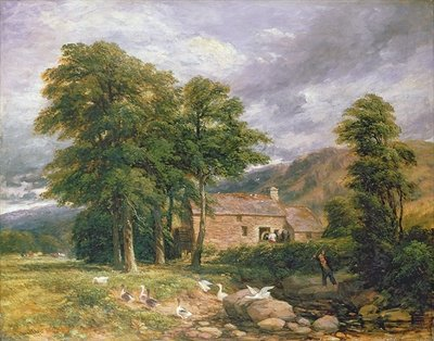 The Old Mill at Bettws-y-Coed Poster Art Print by David Cox
