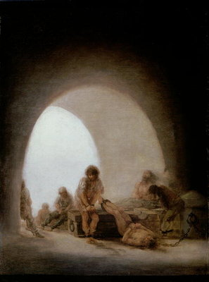Interior of the Jail, 1793-94 Poster Art Print by Francisco Jose de Goya y Lucientes