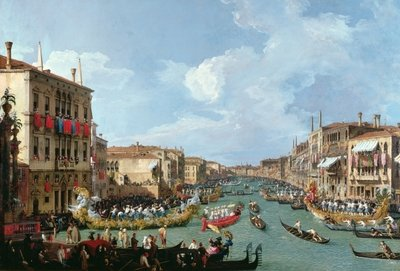 Regatta on the Grand Canal Poster Art Print by Canaletto