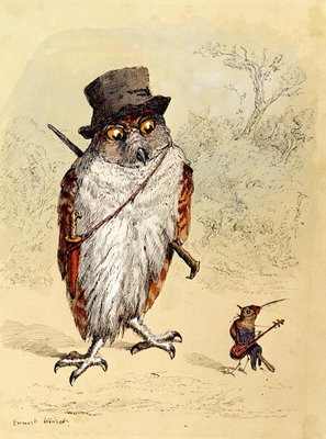 Illustration to Bubble and Squeak in 'Fun's Comic Creatures' published in 1887 Poster Art Print by Ernest Henry Griset