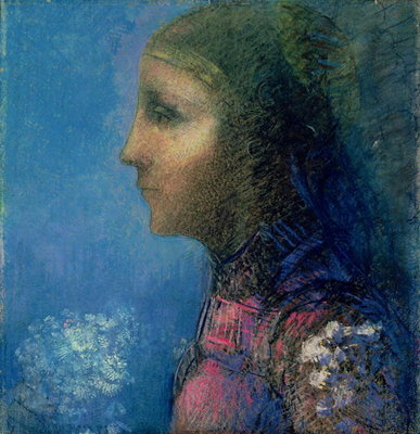Profile Poster Art Print by Odilon Redon