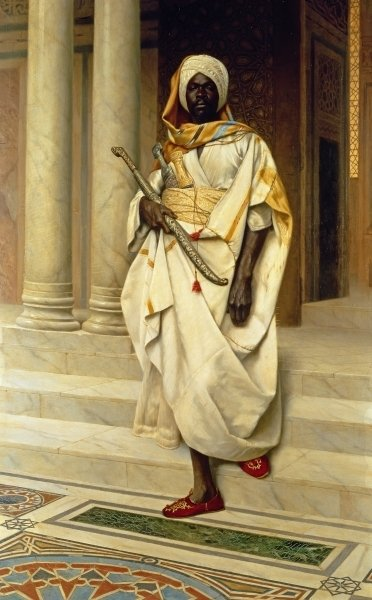 Fine Art Print of The Emir by Ludwig Deutsch