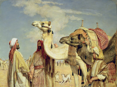 Greetings in the Desert, Egypt Poster Art Print by John Frederick Lewis