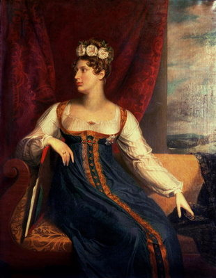 Portrait of Princess Charlotte Augusta of Wales Poster Art Print by George Dawe