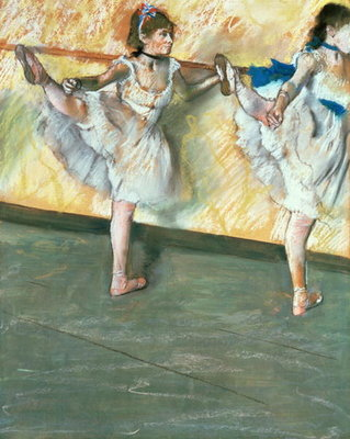 Fine Art Print of Dancers at the bar, c.1877-79 by Edgar Degas