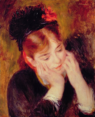 Fine Art Print of Reflection by Pierre Auguste Renoir