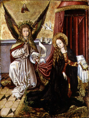 The Annunciation Poster Art Print by Martin Schongauer