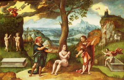 Fine Art Print of An Allegory of the Fall and Redemption of Man by Gassel