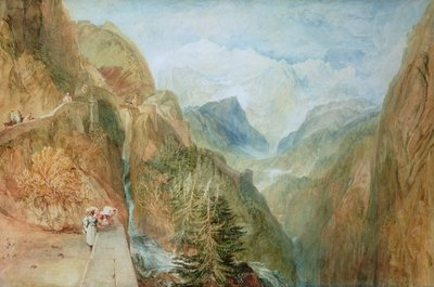 Fine Art Print of Mont Blanc from Fort Rock in Val D'Aosta, c.1810 by Joseph Mallord William Turner
