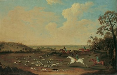 A Hunt in Full Cry at Quorley, Hampshire, c.1770 Poster Art Print by James Seymour