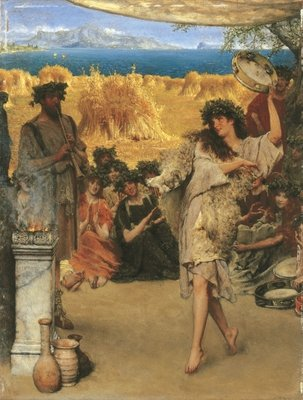 Fine Art Print of A Harvest Festival, 1880 by Sir Lawrence Alma-Tadema