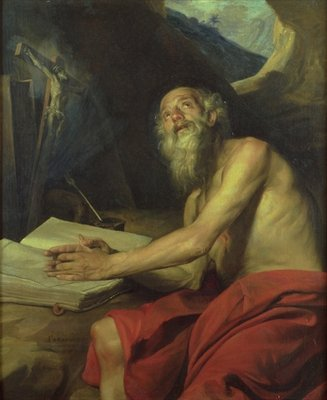 The Vision of St. Jerome Poster Art Print by Juan Martin Cabezalero