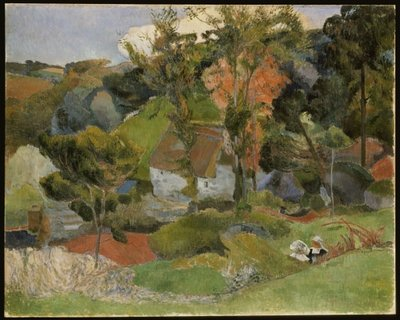 Fine Art Print of Landscape at Pont Aven, 1888 by Paul Gauguin