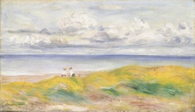 Fine Art Print of On the Cliffs, 1880 by Pierre Auguste Renoir