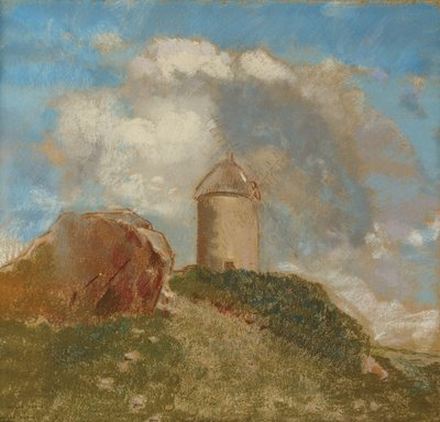 Fine Art Print of The Windmill, c.1880 by Odilon Redon
