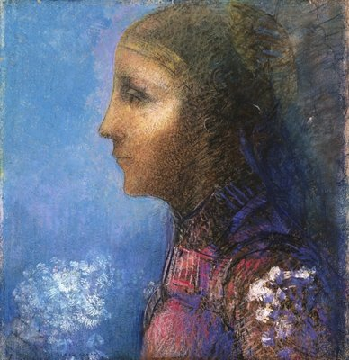 Profile: The Flag Poster Art Print by Odilon Redon