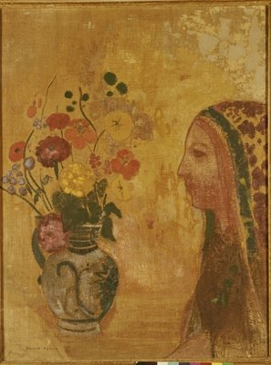 Profile of a Woman Poster Art Print by Odilon Redon