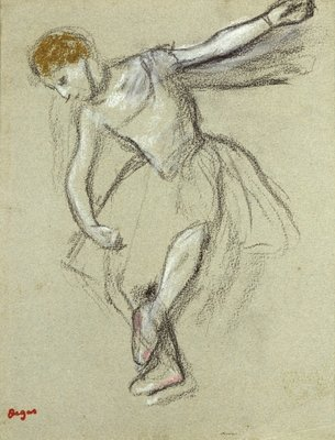 A Dancer in Profile Poster Art Print by Edgar Degas