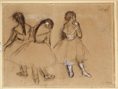 Fine Art Print of Three Dancers by Edgar Degas