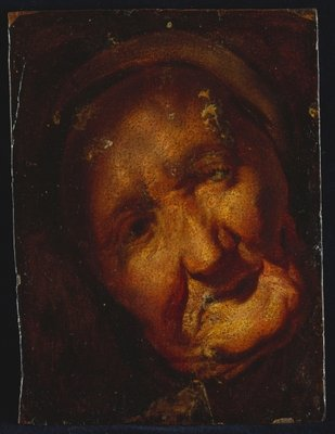 The Head of an Old Woman - A Sketch Poster Art Print by Jacob Jordaens