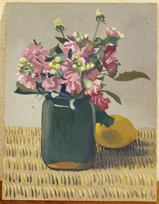 Fine Art Print of A Bouquet of Flowers and a Lemon, 1924 by Felix Edouard Vallotton