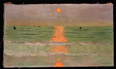 Fine Art Print of Sunset, 1913 by Felix Edouard Vallotton