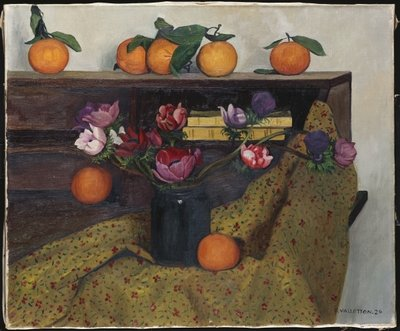 Fine Art Print of Anemones and Oranges, 1924 by Felix Edouard Vallotton