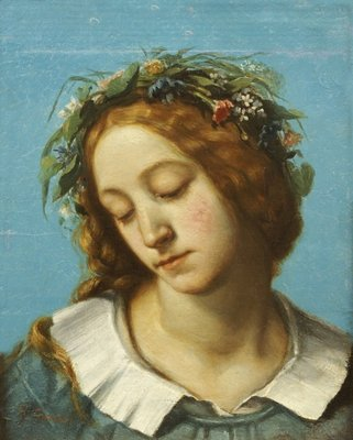 Fine Art Print of Ophelia, 1842 by Gustave Courbet