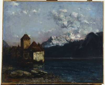Fine Art Print of The Chateau de Chillon, 1877 by Gustave Courbet