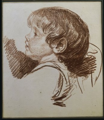 Head of a boy in profile to the ledt Poster Art Print by Jean Baptiste Greuze