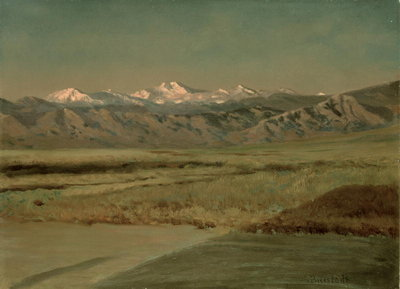 The Grand Tetons, Wyoming Poster Art Print by Albert Bierstadt