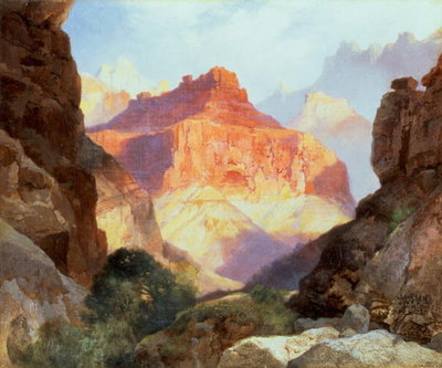 Fine Art Print of Under the Red Wall, Grand Canyon of Arizona, 1917 by Thomas Moran