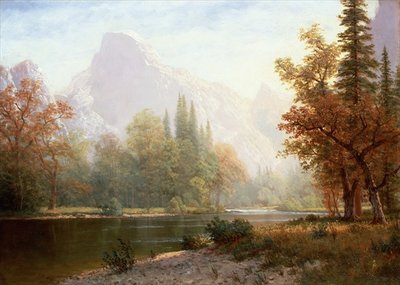 Fine Art Print of Half Dome, Yosemite by Albert Bierstadt