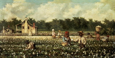 Fine Art Print of Cotton Field, Mississippi by William Aiken Walker