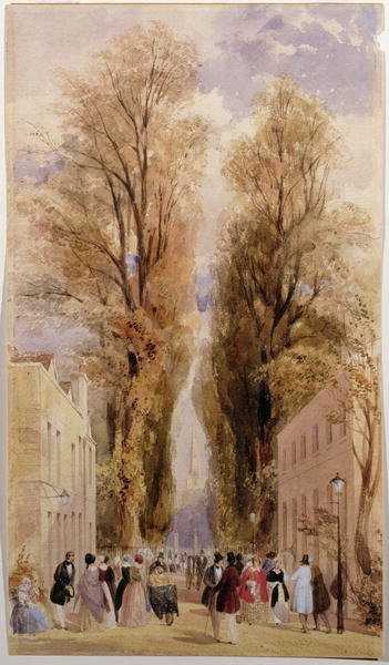 The Old Well Walk, Cheltenham, c.1840 Poster Art Print by Thomas Shotter Boys