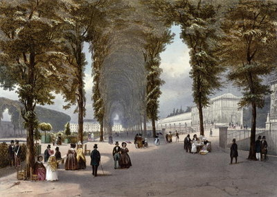 View of Paris: le Jardin des Plantes, c.1840 Poster Art Print by Julien Jacottet