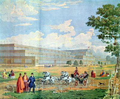 Fine Art Print of View of the Crystal Palace by English School