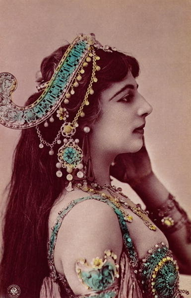 Fine Art Print of Postcard of Mata Hari by Anonymous