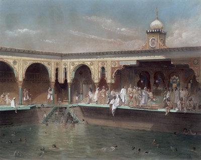 The Deligny Baths, Paris, 1842 Poster Art Print by French School