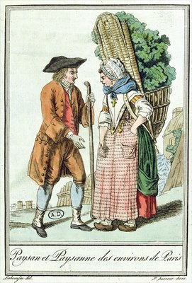 Peasants from the Paris Region, from 'Encylopedie des Voyages' by Jules Grasset de Saint-Sauveur Poster Art Print by L.F. Labrousse