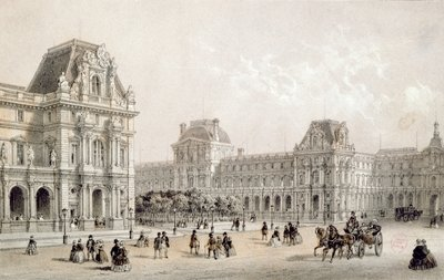 Fine Art Print of The Finished Louvre by French School