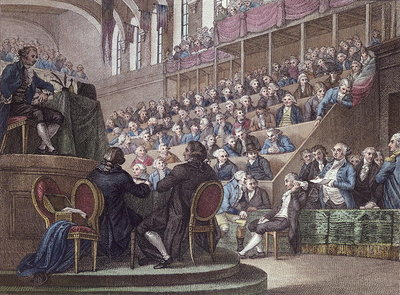 Fine Art Print of The Trial of Louis XVI by Miller