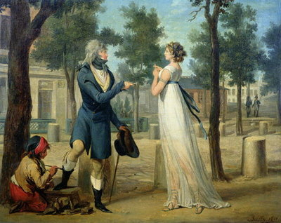 Fine Art Print of Incroyable et Merveilleuse in Paris, 1797 by Louis Leopold Boilly