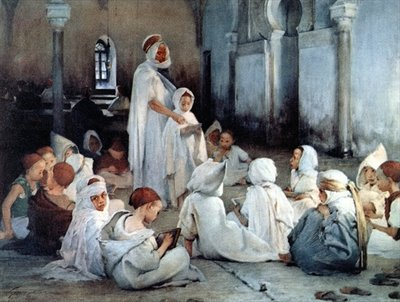 Fine Art Print of An Arab School in Tlemcen by Henri Jules Jean Geoffroy