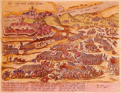 Fine Art Print of The Siege of Esztergom in 1595 by German School
