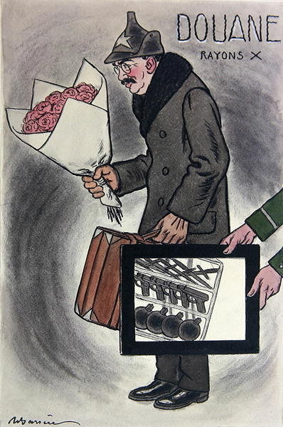 Fine Art Print of Cartoon of the Soviet Ambassador to France, Valerian Devgalevsky, from the French journal 'Fantasio', c. 1924 by Adrien Barrere