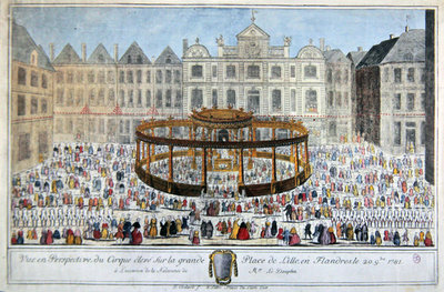 Fine Art Print of Celebrations at Lille in honour of the birth of the Dauphin, 1781 by French School