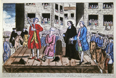 Fine Art Print of Execution of Thomas Arthur Comte de Lally on 8 May, 1766 in Paris by French School